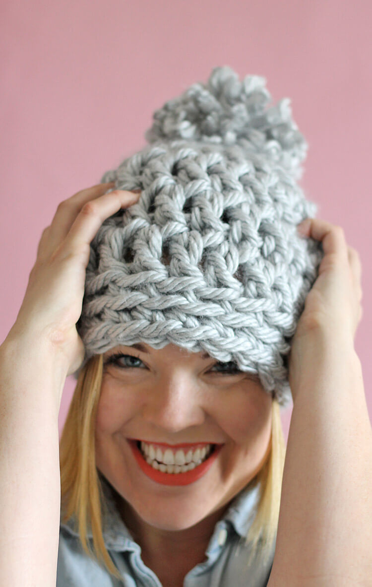 Best Products to Make with the Chunky Yarn Crochet Pattern 30 Minute Easy Chunky Crochet Beanie Persia Lou