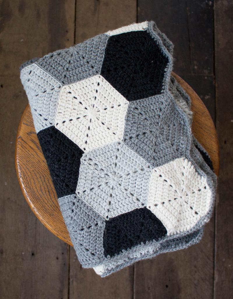 Blanket Crochet Pattern Crochet Hexagon Blanket Project Toft