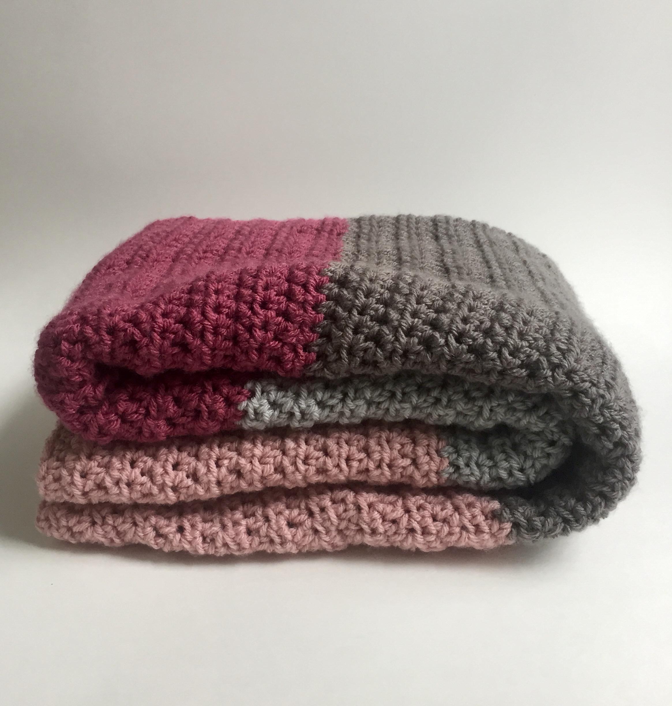 Blanket Crochet Pattern Crochet Pattern Modern Color Block Blanket Or Afghan
