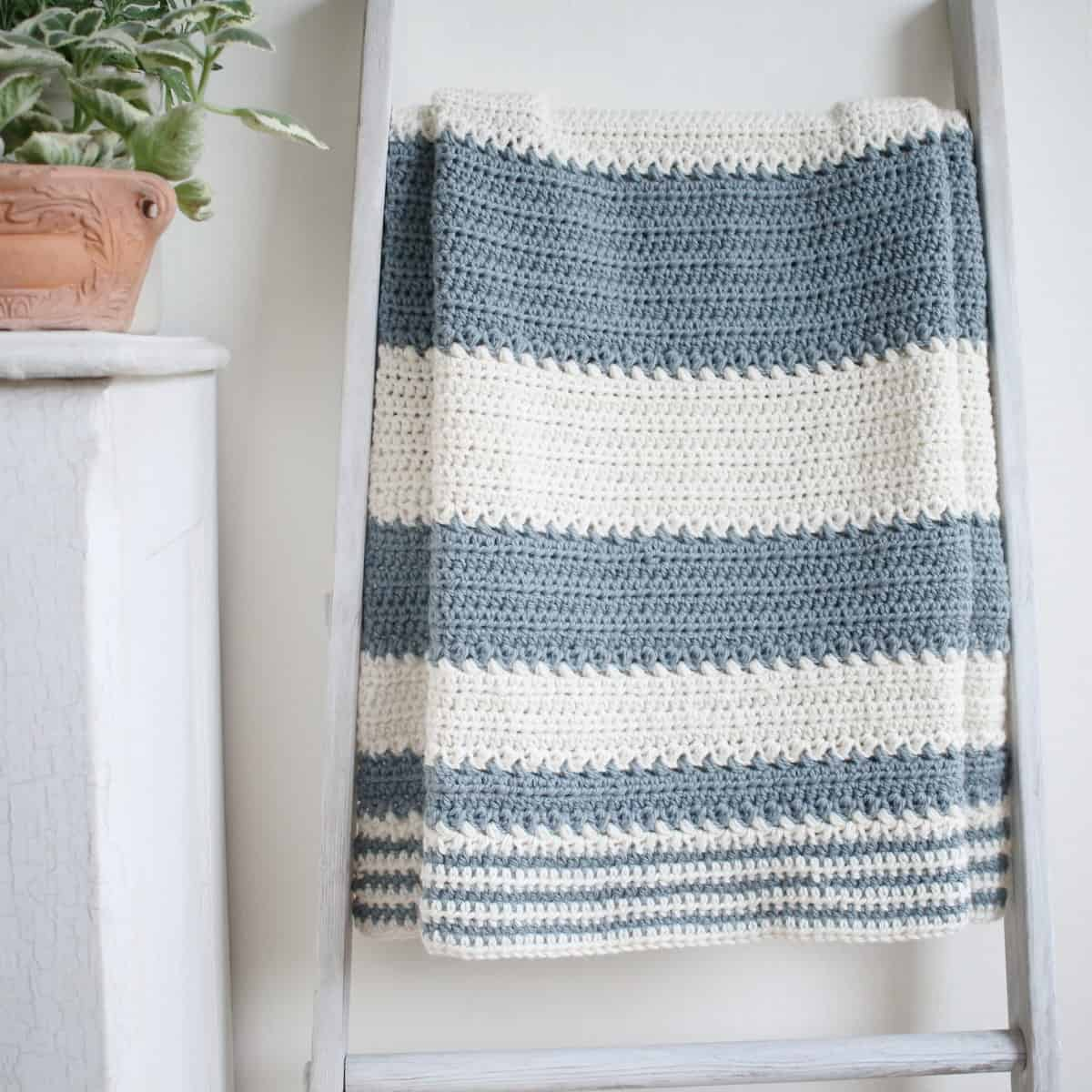 Blanket Crochet Pattern Free to Get You Warmer at Night Simple And Easy Striped Ba Blanket Crochet Pattern Crochet Life