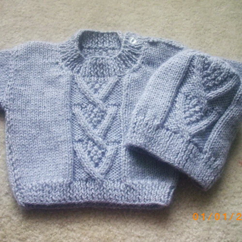 Chevron Knitting Pattern Ardan Ba Or Toddler Sweater And Hat Knitting Pattern
