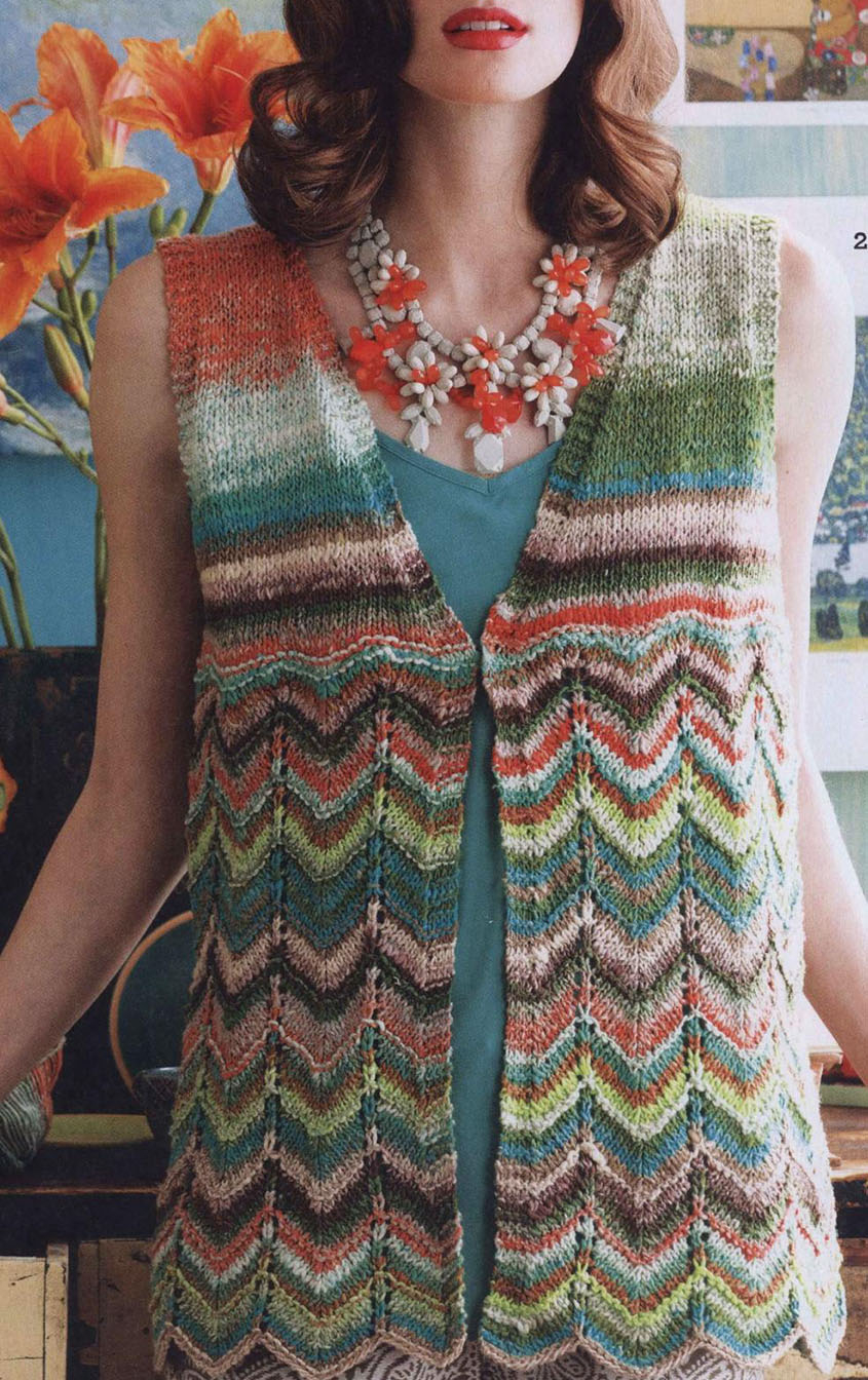 Chevron Knitting Pattern Chevron Vest Knitting Pattern