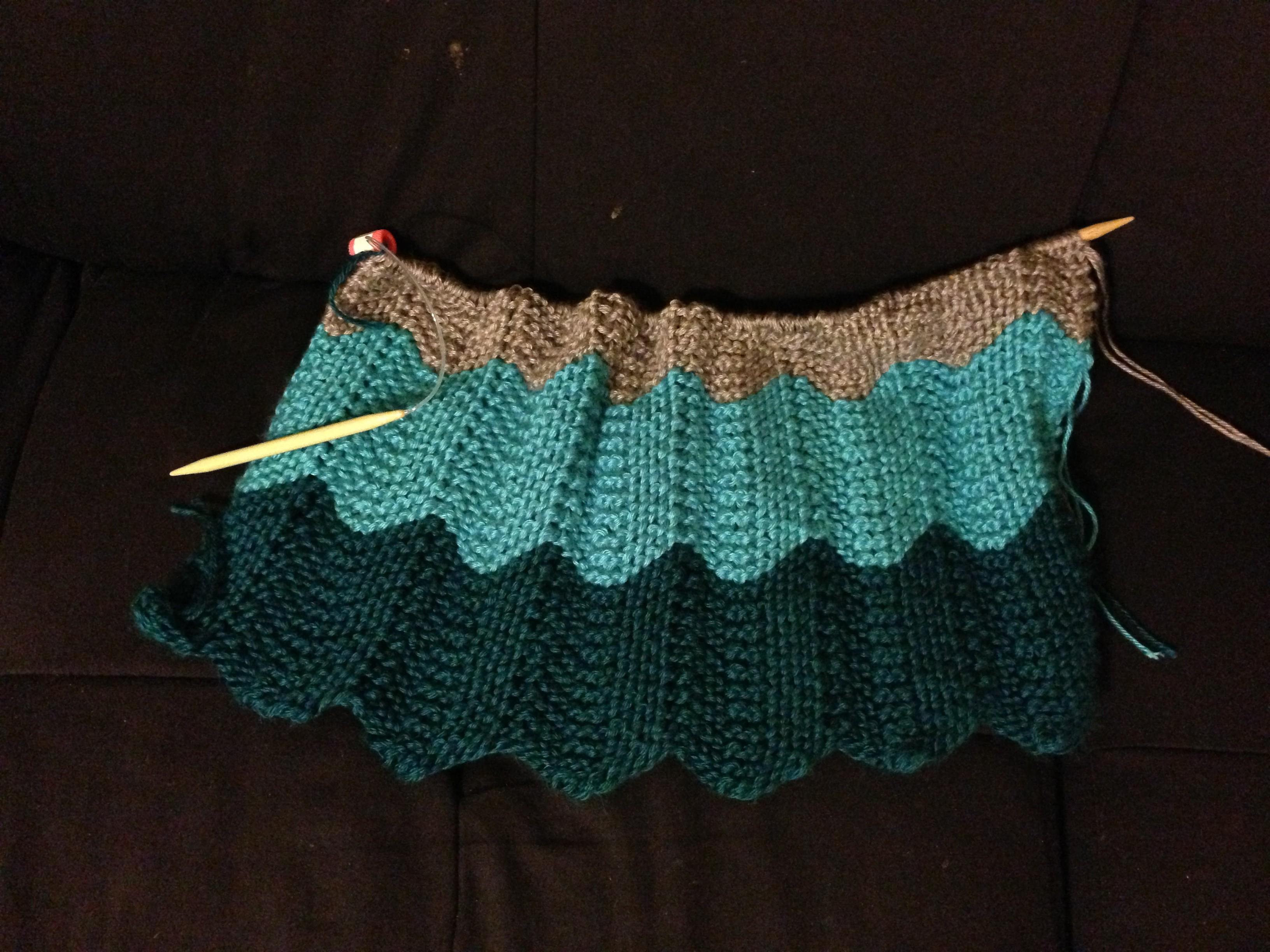 Chevron Knitting Pattern Knitting 101 Chevron Ba Blanket Megoirs