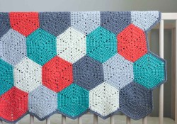 Crochet Afgan Patterns Free Happy Hexagons Free Crochet Afghan Pattern Make Do Crew