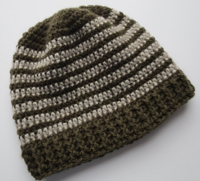 Crochet Beanie Pattern Crocheted Ribbed Hat Pattern My Recycled Bags