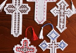Crochet Cross Pattern & Other Elegant Patterns Advanced Embroidery Designs Fsl Crochet Cross Bookmark Set