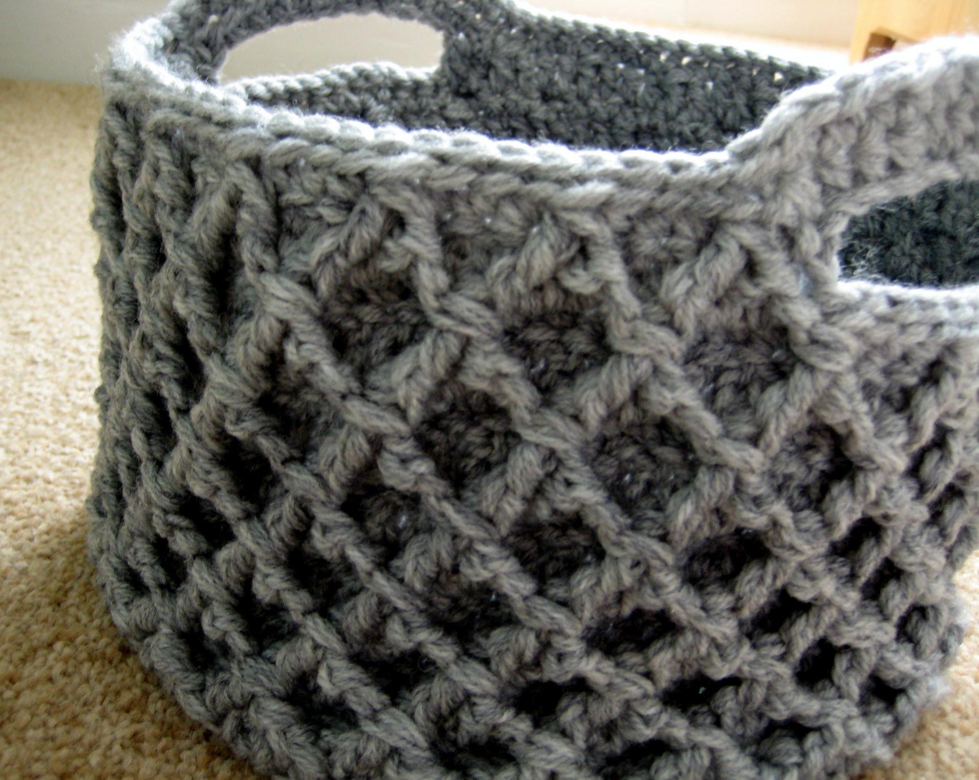Crochet Diamond Pattern  Diamond Trellis Basket Make My Day Creative