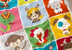 Crochet Graphgan Patterns Free Zoodiacs C2c Crochet Afghan One Dog Woof