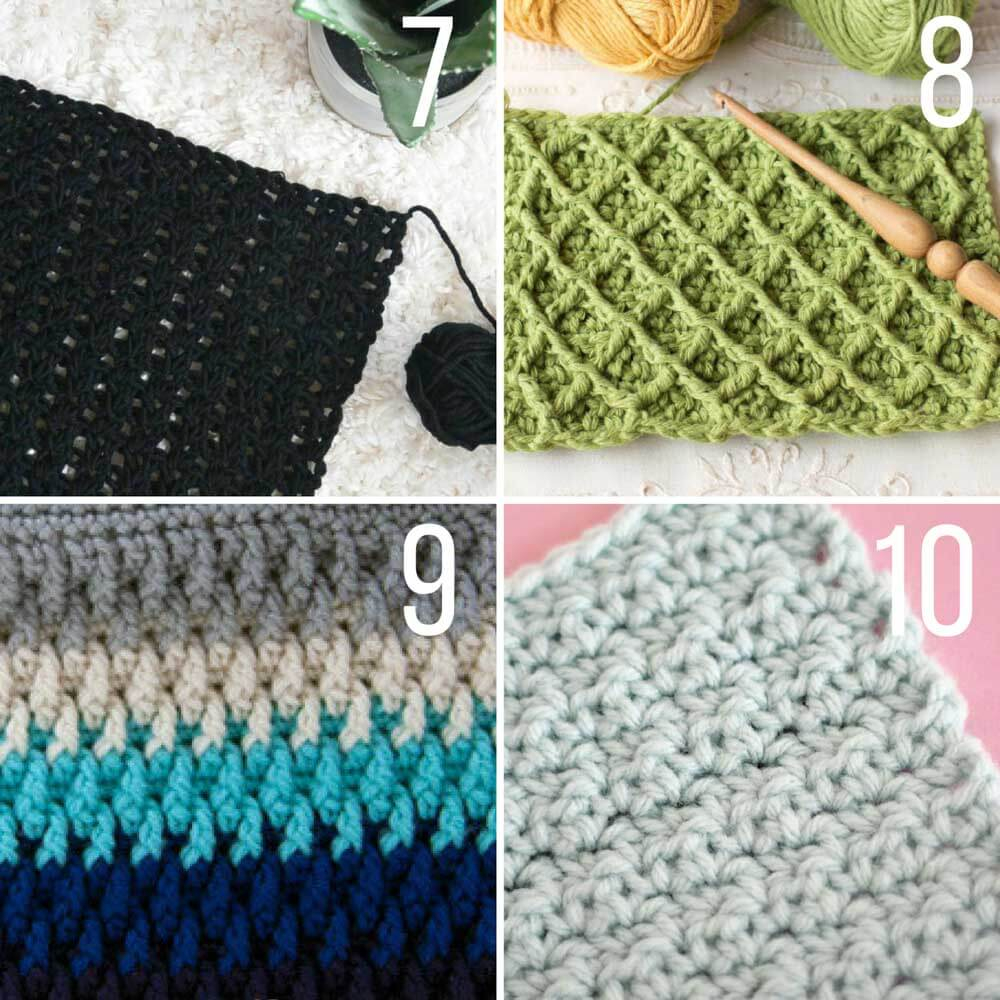 Crochet Stitch Pattern  30 Crochet Stitches For Blankets And Afghans Many With Video