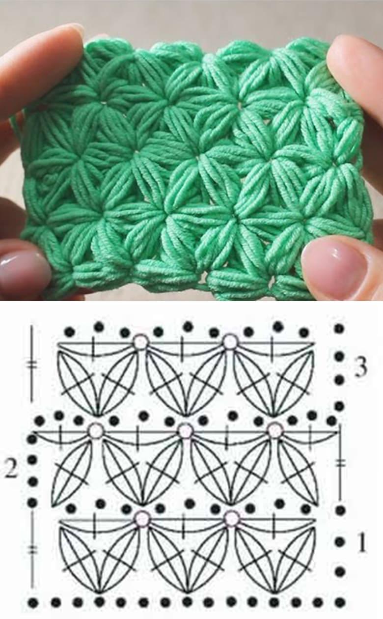 Crochet Stitch Pattern  Easy Jasmine Crochet Stitch Pattern Crochetbeja