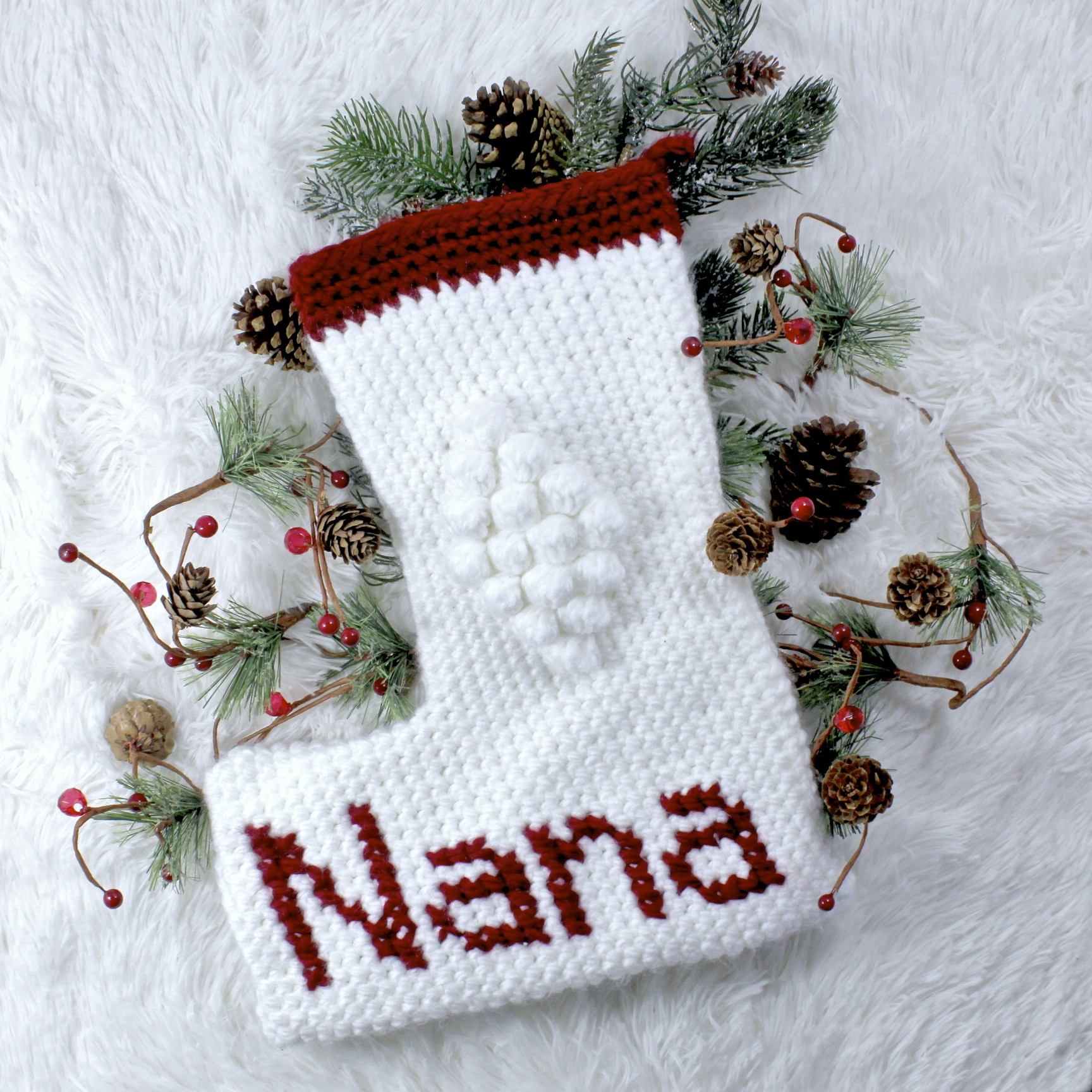 Crochet Stocking Pattern  Christmas Blessings Crochet Stocking Free Pattern Nanas Crafty Home