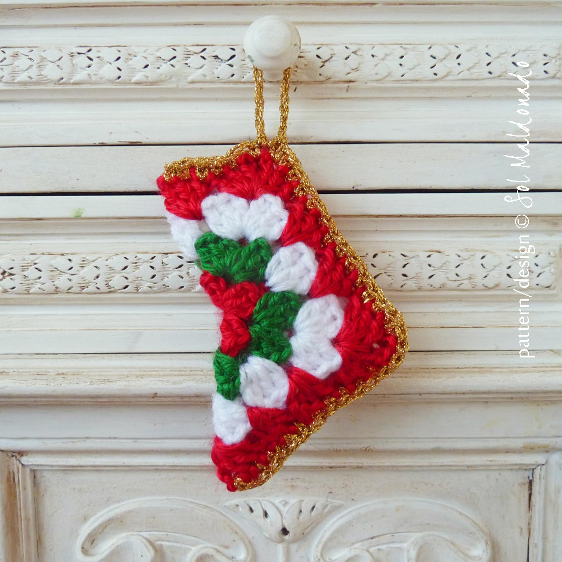 Crochet Stocking Pattern  Christmas In July 9 Free Fun Christmas Decor Crochet Patterns