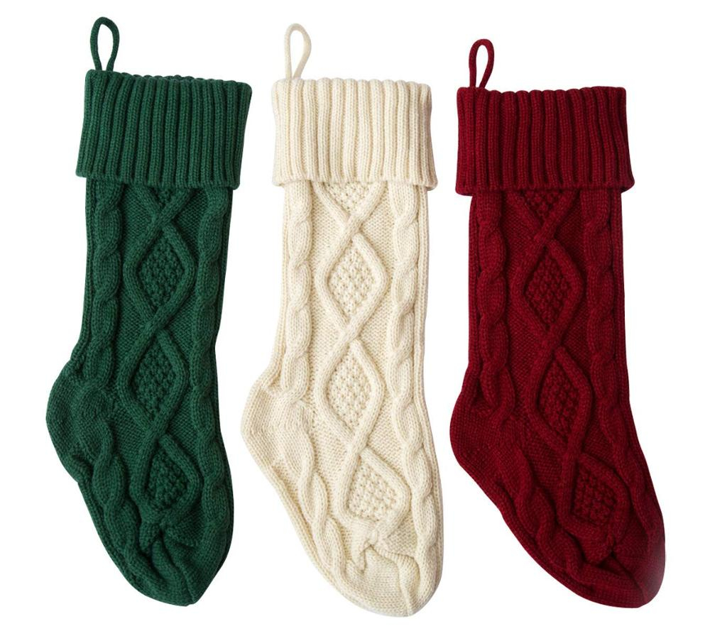Crochet Stocking Pattern  Holidays Christmas Socks Hanging Knit Christmas Crochet Pattern