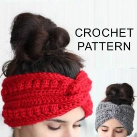 Ear Warmers Crochet Pattern Aura Headband Ear Warmer Crochet Pattern Pdf The Easy Design