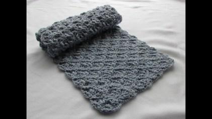 Easy Crochet Patterns Easy Crochet Pretty Lace Scarf Tutorial Part 1 Youtube
