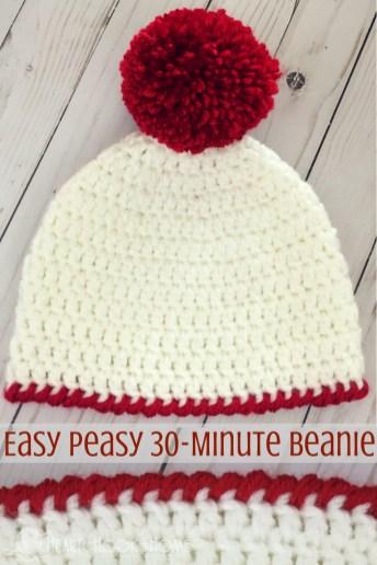 Easy Crochet Patterns Easy Peasy 30 Minute Beanie Free Crochet Pattern