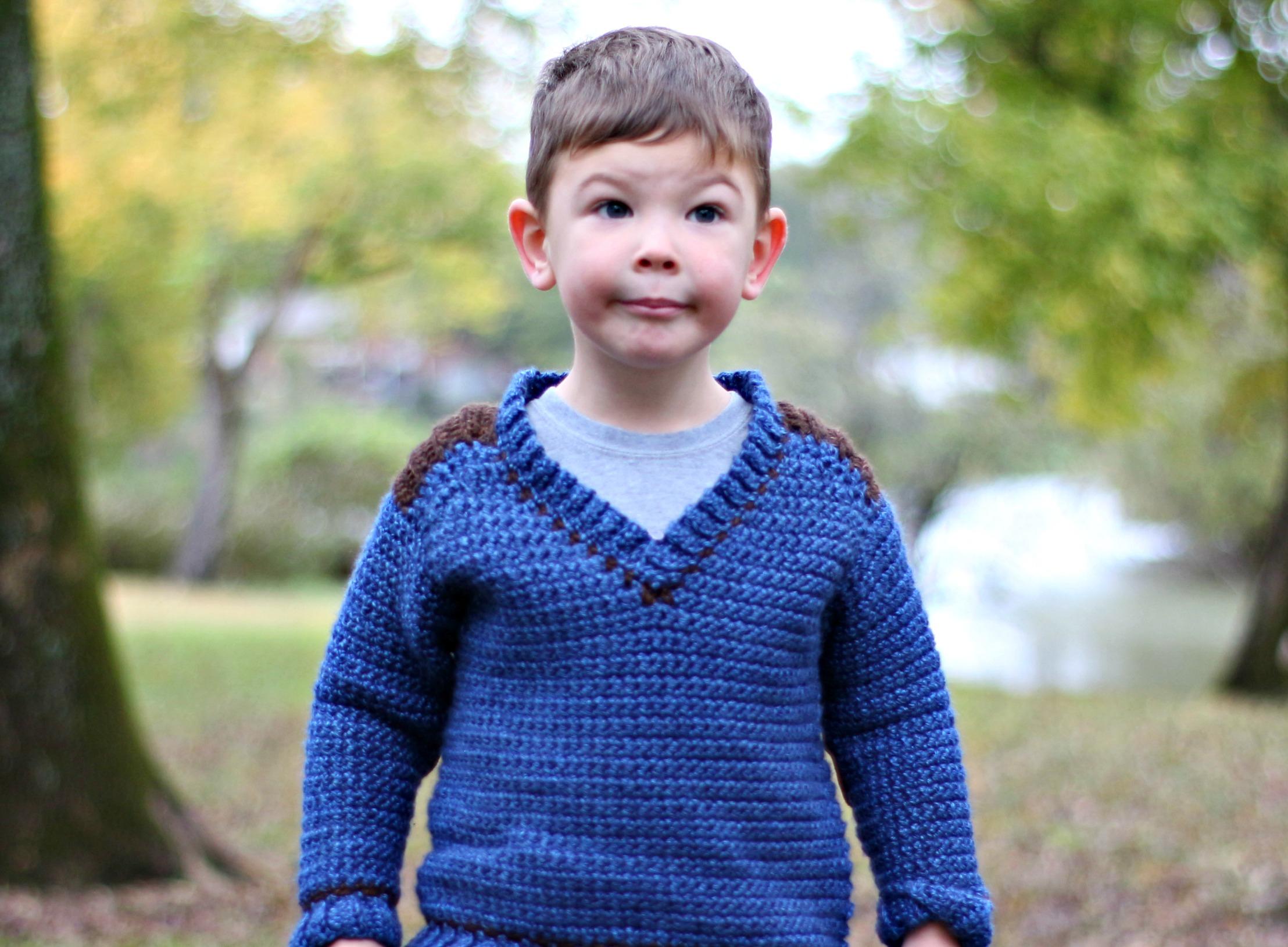 Free Crochet Jacket Pattern Designs for All Seasons Kids Saddle Shoulder Sweater Free Crochet Pattern Love Life Yarn