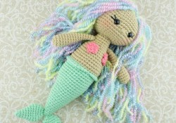 Free Crochet Pattern  Aurora Mermaid Amigurumi Pattern Amigurumi Today