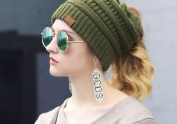 Ideas to Apply on Crochet Hats Patterns Ponytail Cc Knit Pattern Ponytail Beanie For Ponytails And Buns On Storenvy