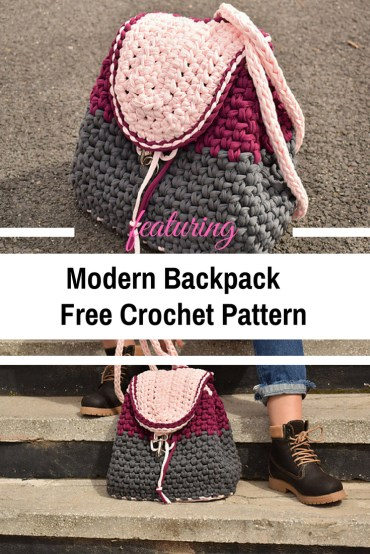 Knit Crochet Patterns Modern Backpack Free Crochet Pattern For All Seasons Knit And