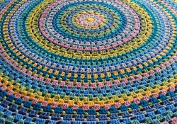 Pattern Crochet Blanket for Beginners Ravelry Blandala Circular Blanket Pattern Kathryn Senior
