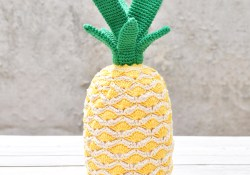 Pineapple Crochet Pattern Crochet A Tropical Pineapple Free Pattern Yarnplaza For