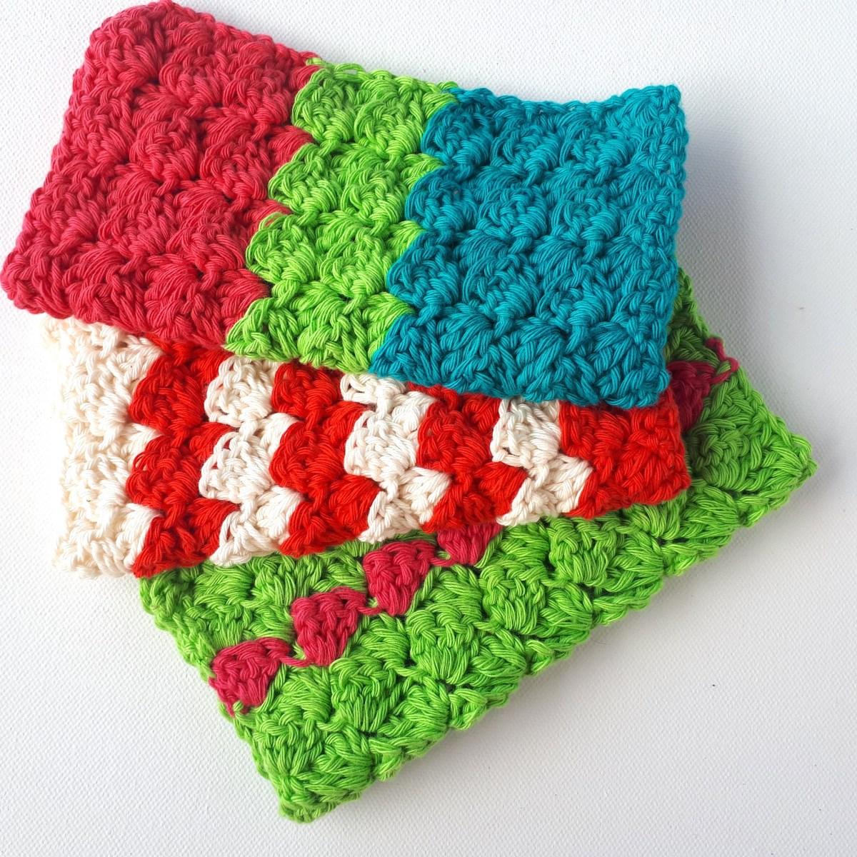 Quick and Simple Dish Cloth Crochet Pattern Cheery Crochet Dish Cloths Free Pattern Annie Design Crochet