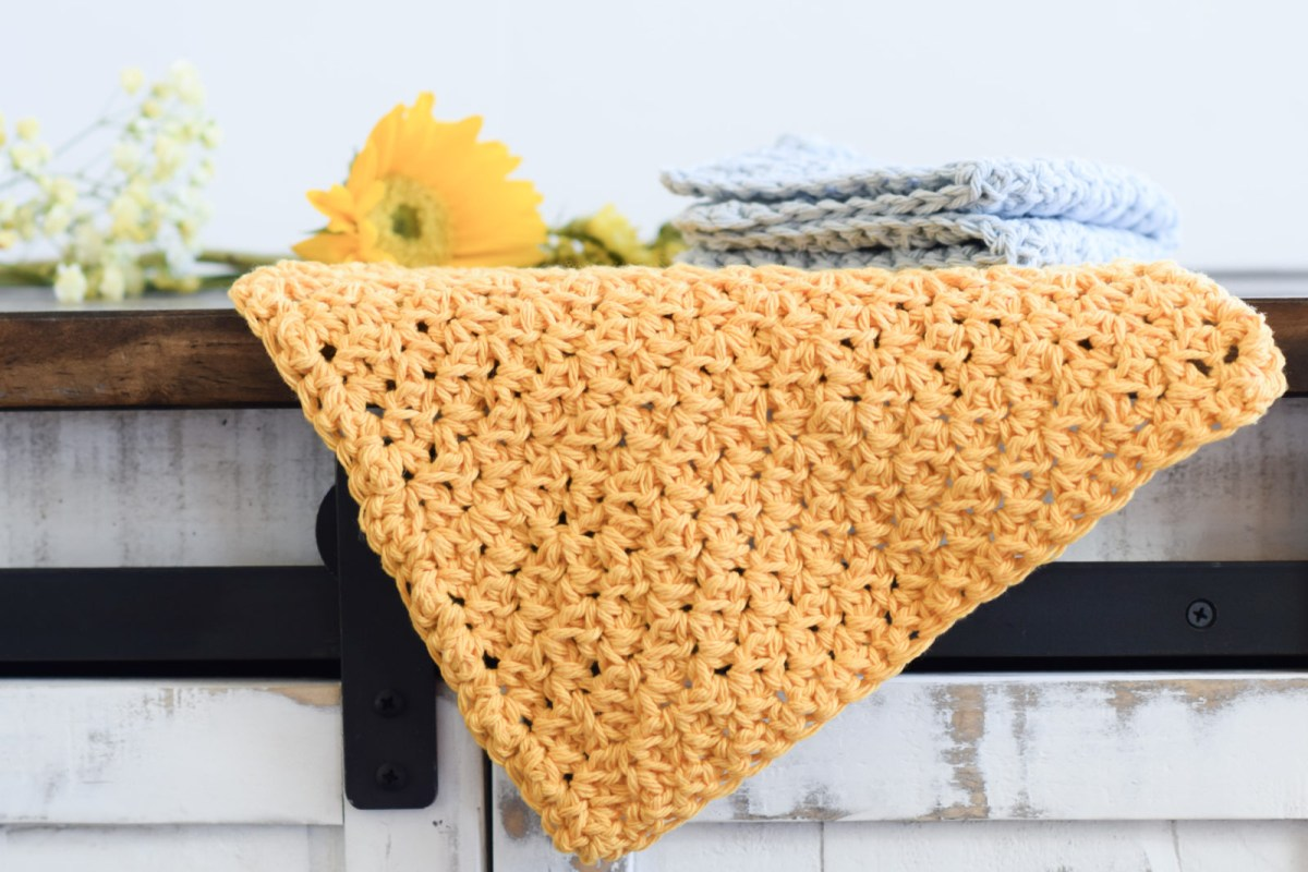 Quick and Simple Dish Cloth Crochet Pattern Farm House Washcloth Crochet Pattern Mama In A Stitch