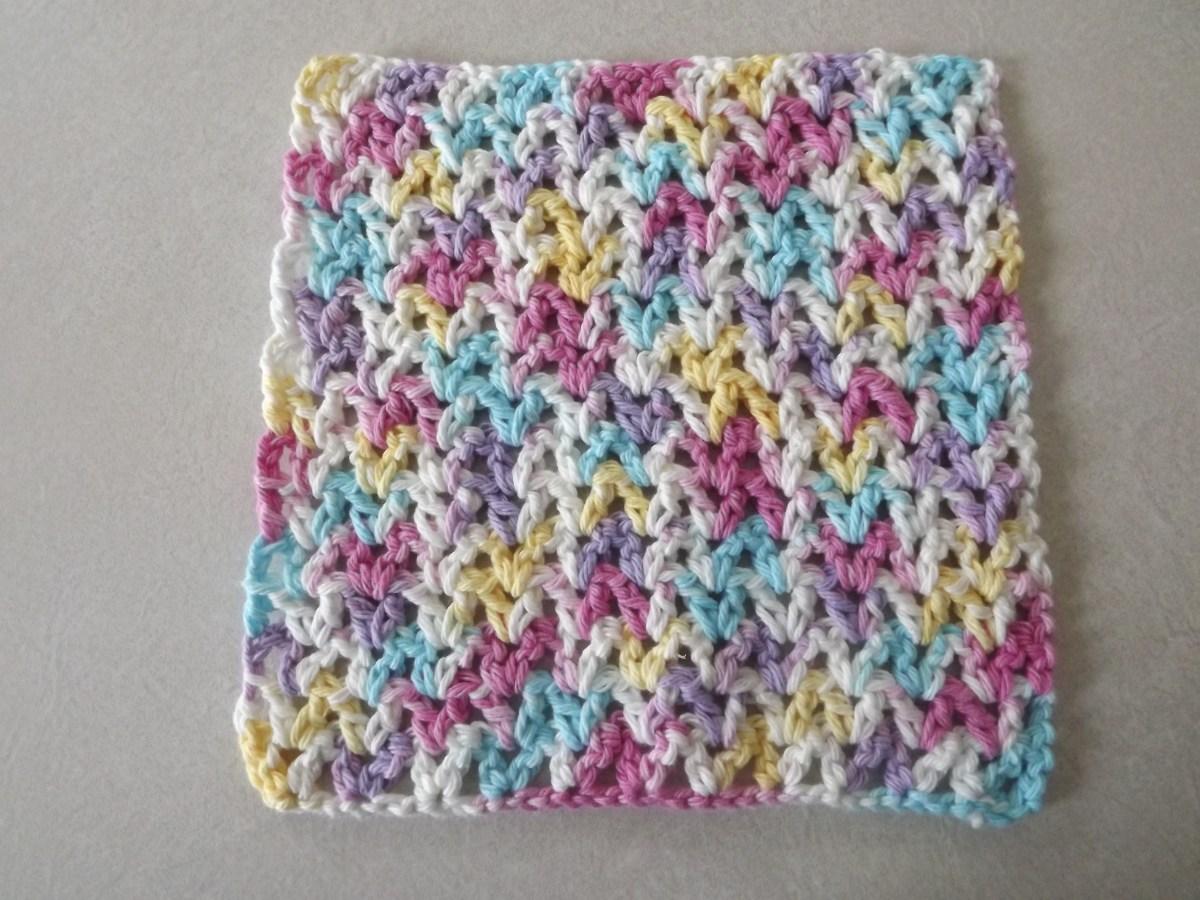 Quick and Simple Dish Cloth Crochet Pattern Free V Stitch Dishcloth Pattern