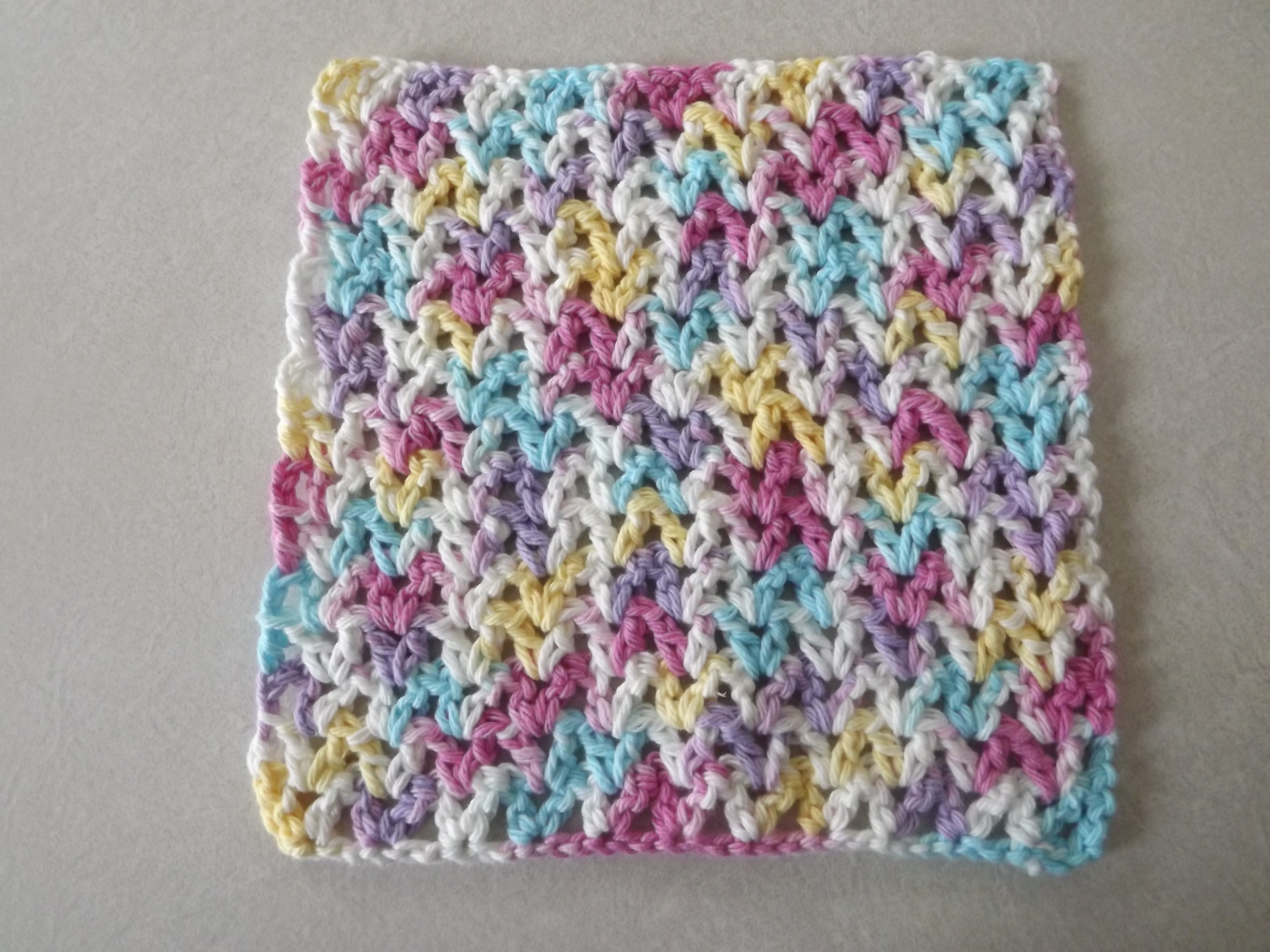 Quick and Simple Dish Cloth Crochet Pattern Free V Stitch Dishcloth Pattern