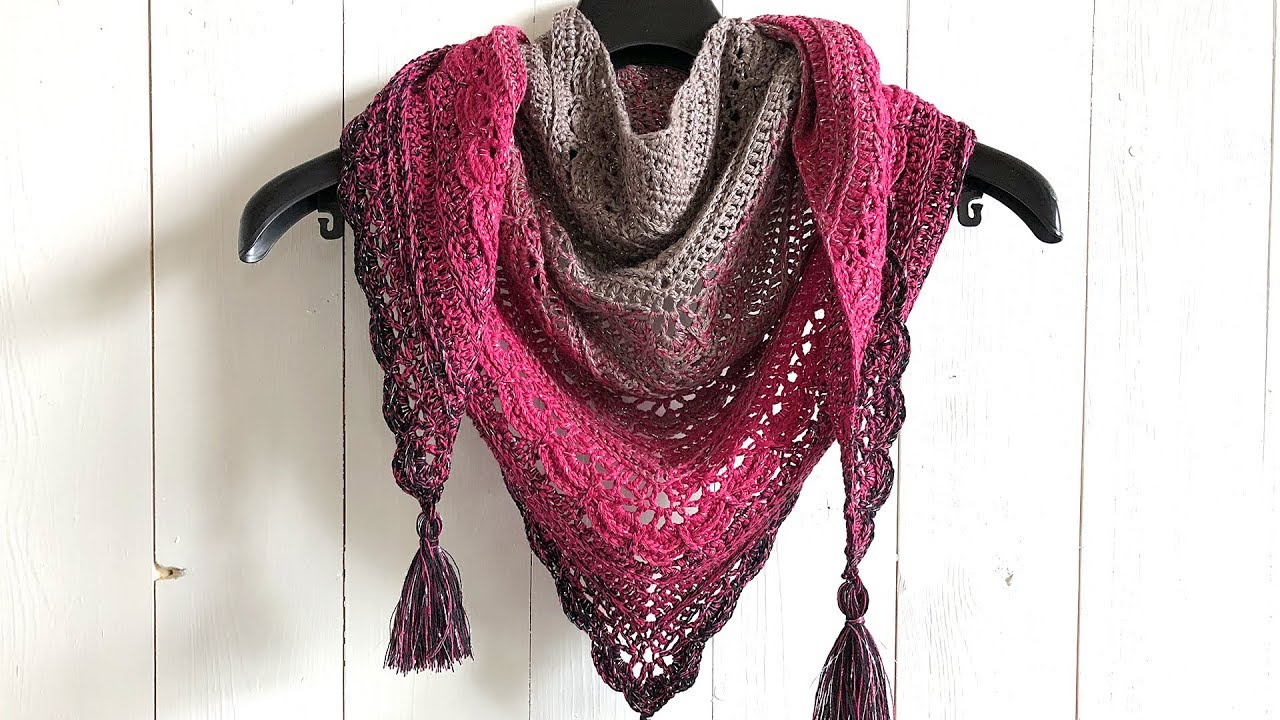 Scarf Crochet Pattern Free to Upgrade Your Winter Style Ana Lucia Shawl Free Triangle Shawl Crochet Pattern Youtube