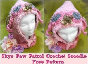 Scoodie Crochet Pattern Free Suzy Homefaker Skye Paw Patrol Crochet Scoodie Scarf And Hood Hat