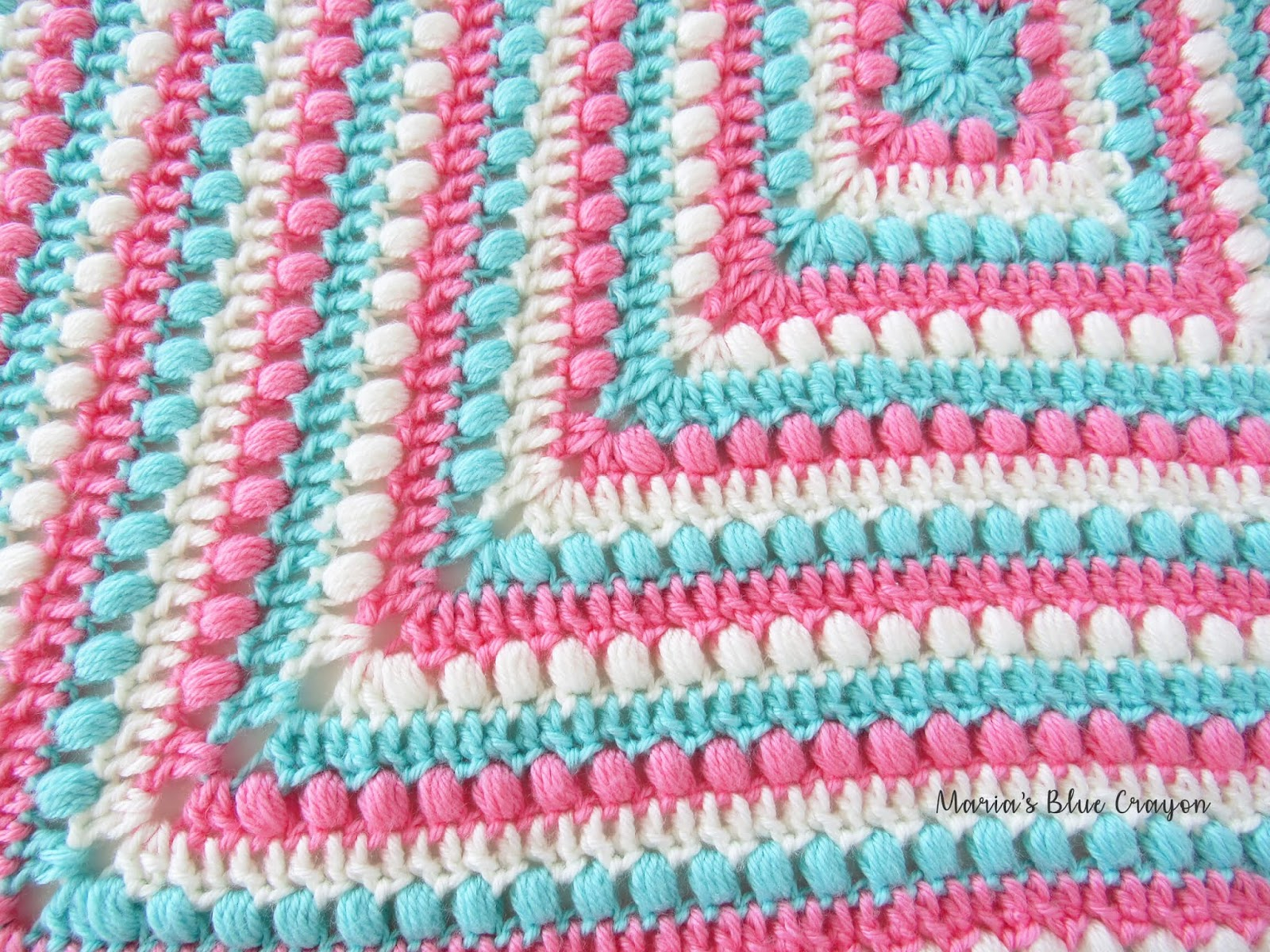 Things To Crochet  Bobbles And Stripes Granny Square Blanket Free Easy Crochet