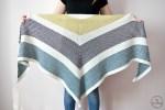 Triangle Moss Stitch Shawl - free crochet pattern
