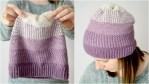 Ombre Moss Stitch Beanie - free crochet pattern