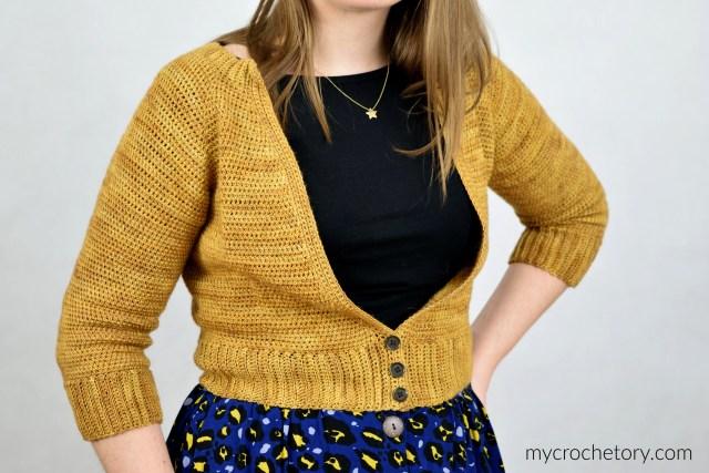 Rhea V-Neck Crochet Cardigan - free crochet pattern by mycrochetory.com