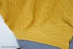 Cable Crochet Diamond Blanket