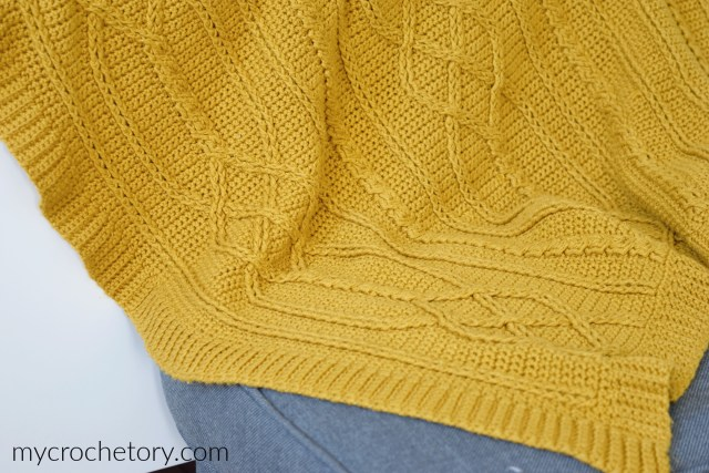 Cable Diamond Crochet Blanket - free crochet pattern on my blog mycrochetory.com