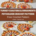 Turkey Coasters Ornaments Potholder Crochet Pattern Mycrochetpattern