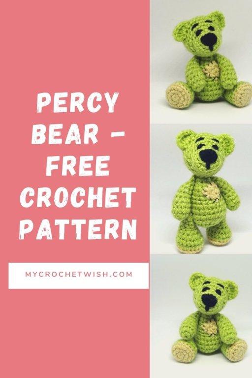 Percy Bear Free Amigurumi Crochet Pattern