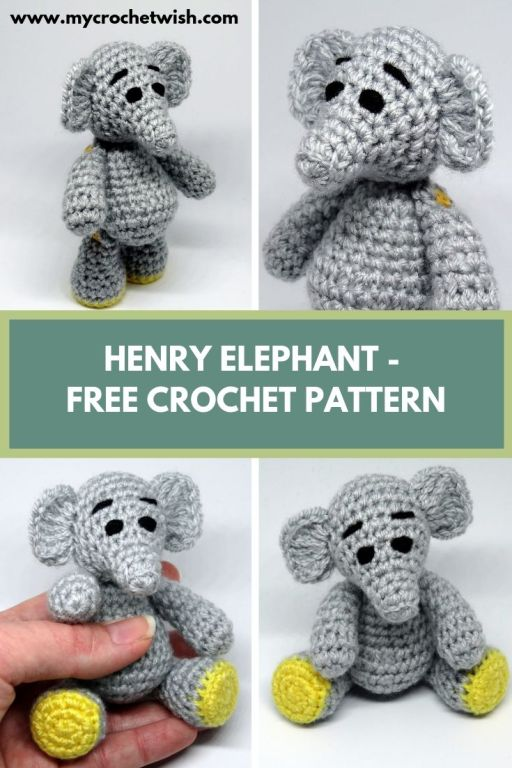 Henry Elephant Free Amigurumi Crochet Pattern - My Crochet Wish