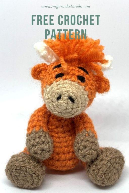 Free Highland Cow Crochet Pattern