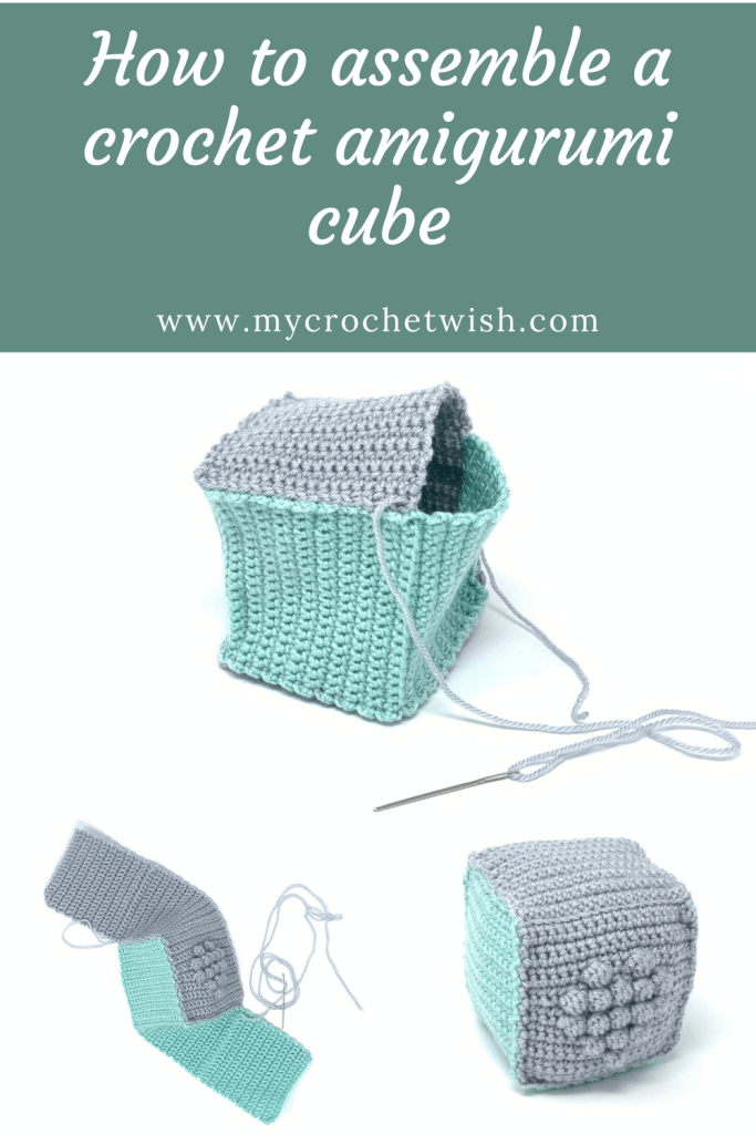 How to assemble a crochet amigurumi cube