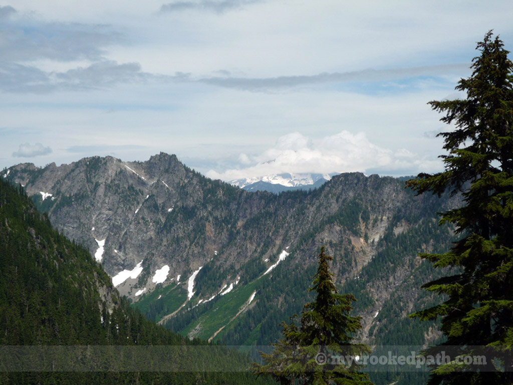 Storm Ridge (with Glacier Peak obscured by the clouds in the background)