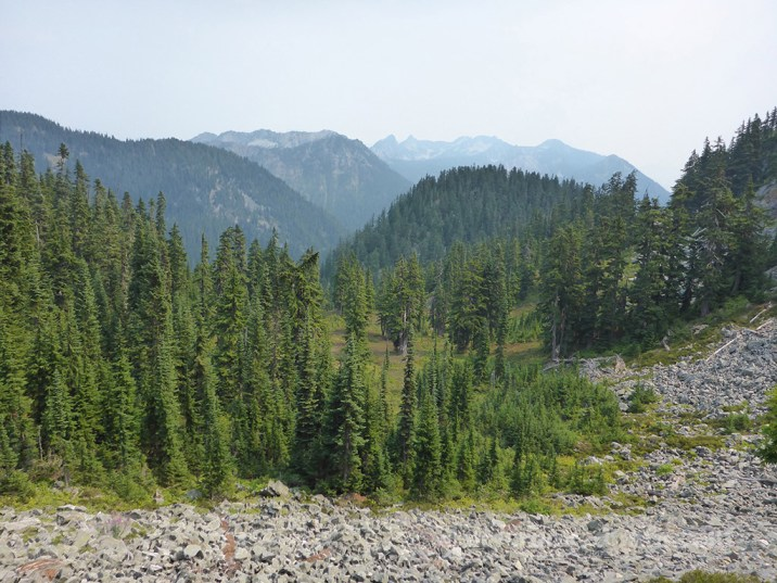The first ascent from Hope Lake