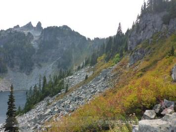 Up toward Trap Pass
