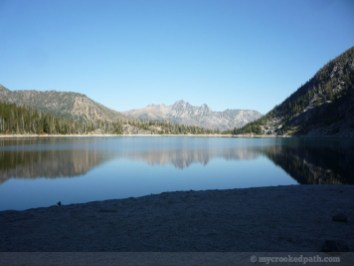Can't see the fish rising in this pic. Cashmere Mountain in Colchuck Lake.