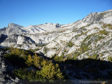 Looking back up toward the Upper Enchantments