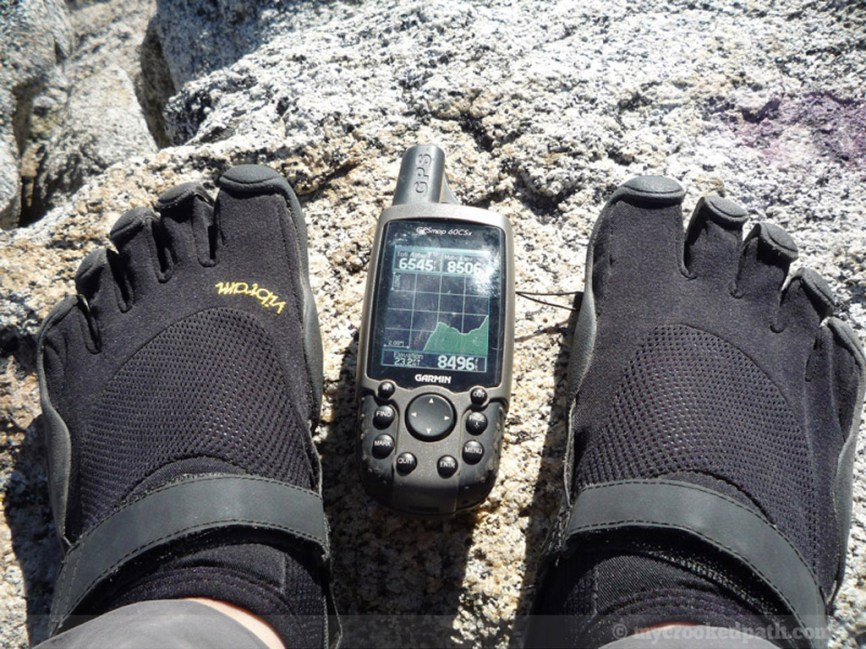 8500 feet and FiveFingers