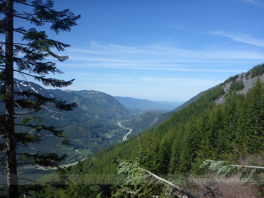 West toward Seattle